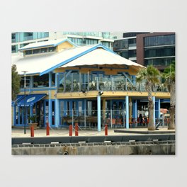 The blue Restaurant Canvas Print