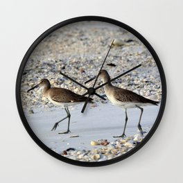 Willets in the Winter Wall Clock