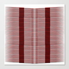 Black and red lines background Canvas Print