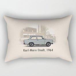 A Trabant in Karl-Marx-Stadt Rectangular Pillow