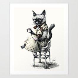 Portrait of Lady Cat Art Print