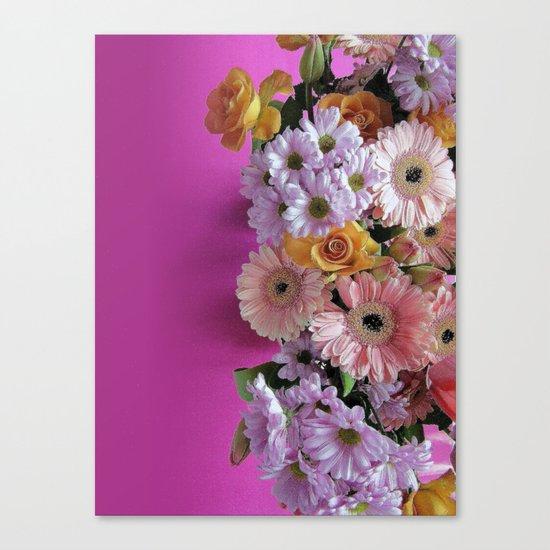 pink 'n flowers Canvas Print