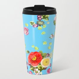 Floating Flowers Metal Travel Mug
