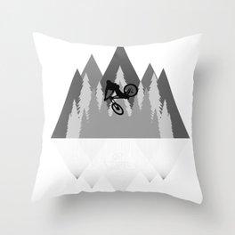 MTB Whip Gray Throw Pillow