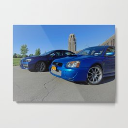 Blue Subies in Buffalo Metal Print