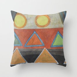 Clear the Stage for the Geometry Show Throw Pillow