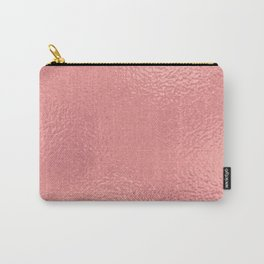 Simply Metallic in Warm Rose Gold Carry-All Pouch