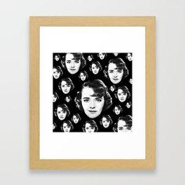 Floating Ruby Keeler Head Framed Art Print