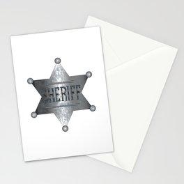 Sheriff Badge Stationery Cards