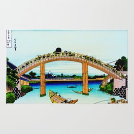 Mannen Bridge and Mount Fuji Rug