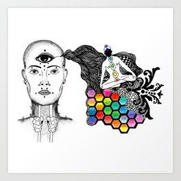 [spirit molecule] Art Print