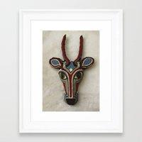 mask Framed Art Prints featuring Mask by Abundance