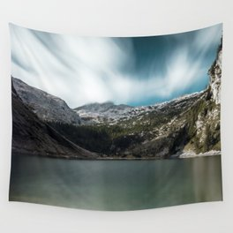 Magnificent lake Krn with mountain Krn, Slovenia Wall Tapestry