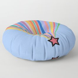 The Beginning is Nigh Rainbow Floor Pillow