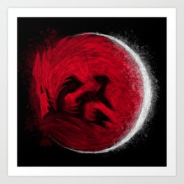Super Blood Wolf Moon Art Print