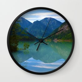 Morning Reflections on Kinney Lake in Mount Robson Provincial Park, British Columbia Wall Clock