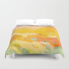 abstract spring sun Duvet Cover