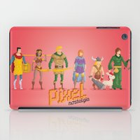 dungeons and dragons iPad Cases featuring Dungeons and Dragons - Pixel Nostalgia by Boo! Studio