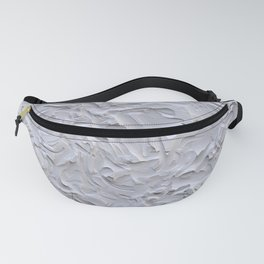 White Rough Plastering Texture Fanny Pack