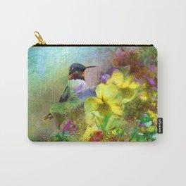 Hummingbird Bouquet Carry-All Pouch