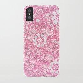Henna Design - Pink iPhone Case