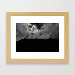The gray sand Framed Art Print