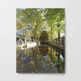 La Fontaine de Médicis Metal Print
