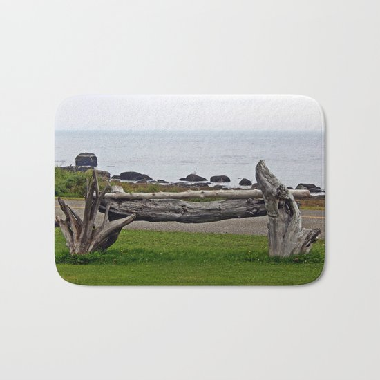 Driftwood Fence and the Sea Bath Mat
