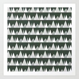 Scandinavian Trees | olive Art Print