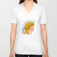 apollo V-neck T-shirts featuring Apollo by Milan Kovacevic