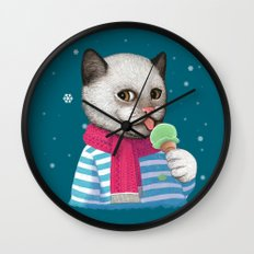 Ice cream & Snow Wall Clock
