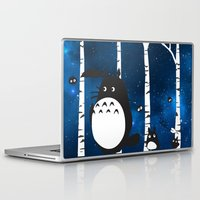 ashton irwin Laptop & iPad Skins featuring walk in the woods by Vickn