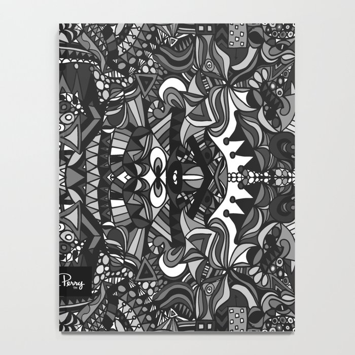 King of the City Black and White Notebook