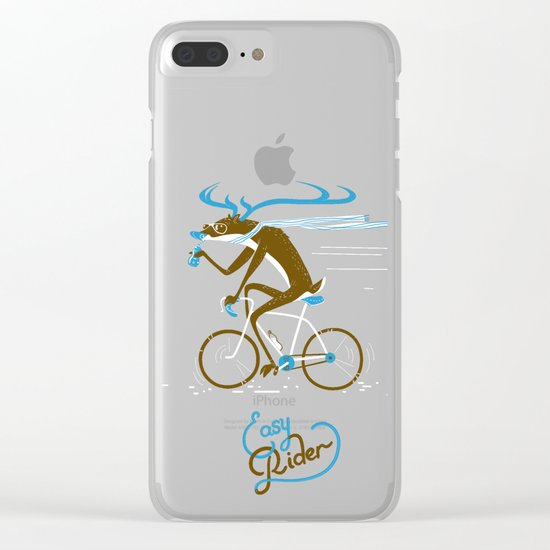 Easy Rider // (cycling hipster deer) Clear iPhone Case