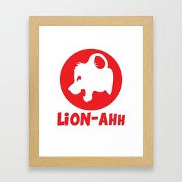 Lion-ahh Framed Art Print