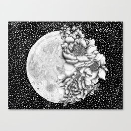 Moon Abloom Canvas Print