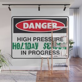 holiday season danger Wall Mural