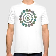 Leveraged  MEDIUM White Mens Fitted Tee
