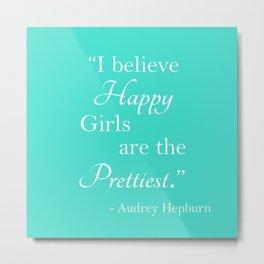 Happy Girls Metal Print