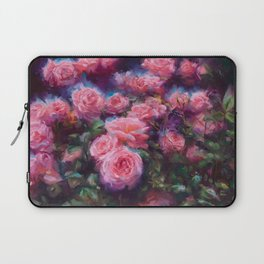 Out of Dust, impressionist pink roses Laptop Sleeve
