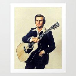 George Jones, Music Legend Art Print