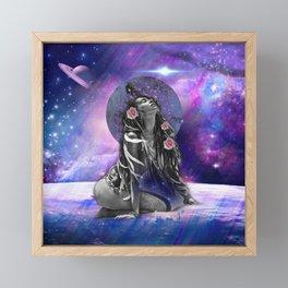 Galaxy Love Framed Mini Art Print