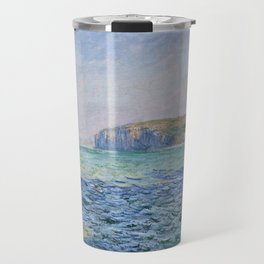 Shadows on the Sea at Pourville by Claude Monet Travel Mug