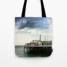 Brighton Pier, Brighton Hove UK Tote Bag