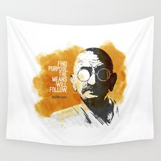 Purpose and Means Wall Tapestry
