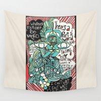 phoenix Wall Tapestries featuring Phoenix by monasita