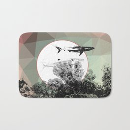Underwater Abstract Fishes Design Bath Mat