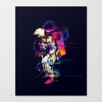 spaceman Canvas Prints featuring Spaceman  by Sebastián Andaur