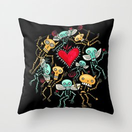 Devils and Angels Throw Pillow