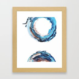 Galaxies Collide: a minimal, abstract watercolor in blues and pink by Alyssa Hamilton Art Framed Art Print